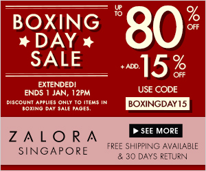 *Extended* Boxing Day Sale Up to 80% + 15% off at Zalora!