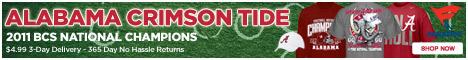 Shop Crimson Tide 2011 National Champion Gear!