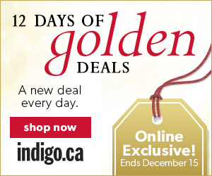 12 Days of Golden Deals!  One new deal every day.  Dec. 4-15, Online Only.