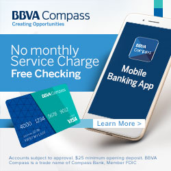 BBVA Compass Bank Free Checking Offer - 1.2% APY Money Market - 1.3% APY 19-Month CD