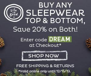 Life is good 20% Off Top & Bottom Sleepwear Pair