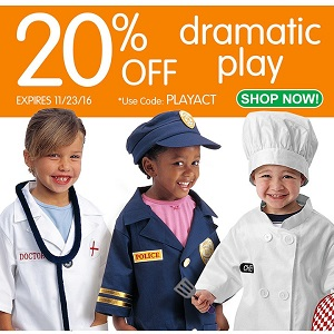 Save 20% Off Dramatic Play & Get Free Shipping On Orders Over $99 At DiscountSchoolSupply.com!
