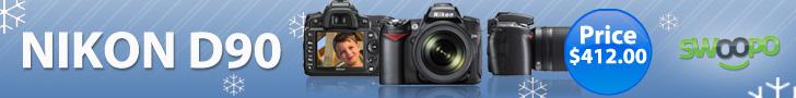 Get a Nikon D90 at Swoopo.com!