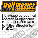 Free upgrade to Nitro shocks when you buy a Trailmaster suspension system