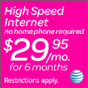 AT&T High Speed Internet $14.95/month for 12 months