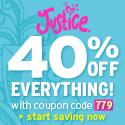 Justice 125x125: Take 40% Off Your Entire Order wi