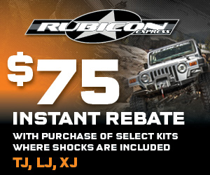 Save $75 INSTANTLY on Rubicon Express 3.5 Inch Super-Flex Short Arm Lift Kit