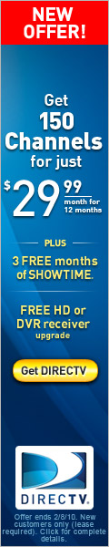 Get over 200 channels plus free HD. Get DIRECTV.
