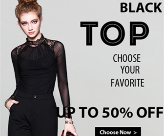 Get Up To 50% off Black & White TOPS.
