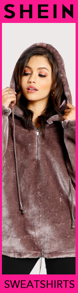 160x600 Great Deals on Sweatshirts!  Visit SheIn.com today!  Limited Time Offer