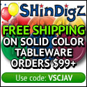 Free Shipping on solid color party tableware.