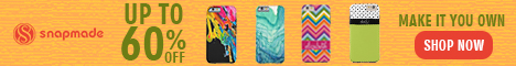 Snapmade 2015 - Custom Phone case up to 60% Off Deals - 468*60