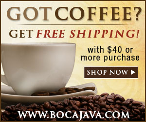 Boca Java Coffee Coupon FREE SHIPPING on orders of $40 or More
