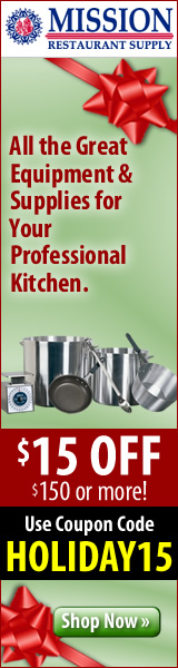 Kitchen & restaurant supplies at MissionRS.com!
