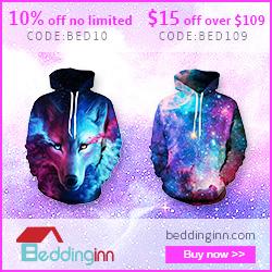 BLACK FRIDAY SALES! UP TO 85% OFF 3D Bedding Sets, Curtains, Car Decors More! All at Beddinginn.com