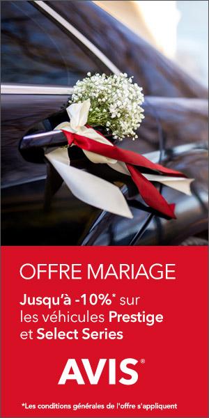 France : Offre Mariage -10% sur la Gamme Prestige Select Series jusqu'au 30/06/17 avec le code I7001
