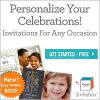 Smilebox personalized invitations with online RSVP