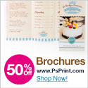 Save up to 60% off brochures from PsPrint!
