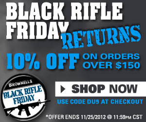 """Black Rifle Friday - Take 10% off Orders Over $150 With Code DU9."""