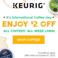 Celebrate International Coffee Day: Enjoy $2 OFF all coffees!