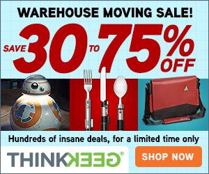 ThinkGeek Moving Sale