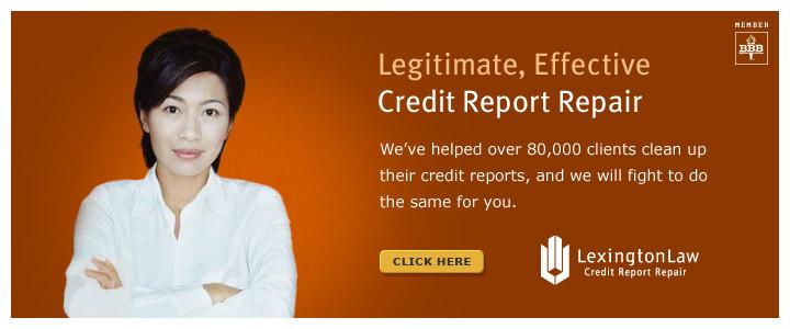 Legitimate, Effective Credit Report Repair