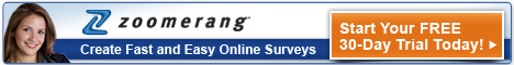 Try Zoomerang online-survey with a FREE TRIAL