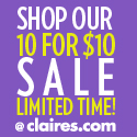 Buy 1 Get 1 50% Off Valentine's Day @ Claires.com
