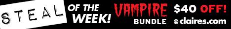 $40 off Vampire Halloween Bundle when you buy as a set