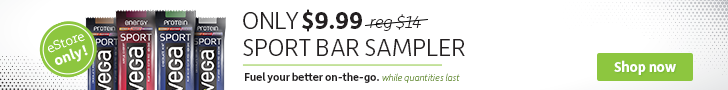 Vega Sport Bar Sampler only $9.99