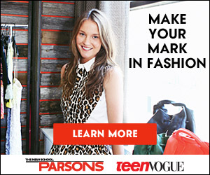 Parsons & Teen Vogue 300x250 banner - Make Your Mark