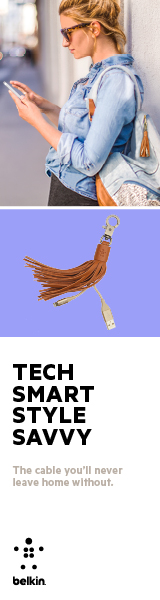 The cable you will never leave home without. Belkin Lightning to USB Leather Tassel.