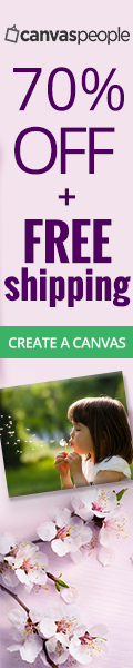 70% off all canvas prints & FREE SHIPPING!