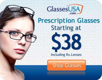 Save up to 70% on Glasses from GlassesUSA.com