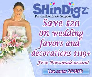 Save 10% on wedding favors and decor