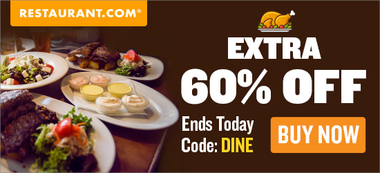 Restaurant.com Weekly Promo Offer 150 X 150