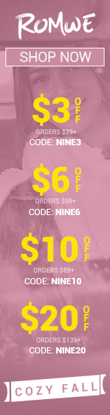 Cozy up for Fall! Save $20 OFF $139 at us.ROMWE.com with code NINE20 Offer Expires - 10/07