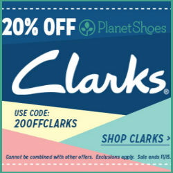 20% off Clarks Shoes at PlanetShoes!