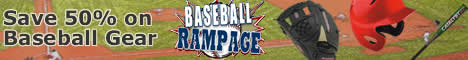 Save 50% off Baseball Gear