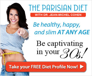 The parisian diet banner with the number of pounds (moving) lost in France