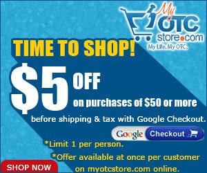Get $5 offer on order of $50 thru Google checkout