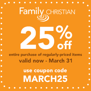 25% off entire purchase of regularly-priced items with coupon code MARCH25