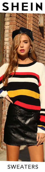 160x600 Fantastic Deals on Sweaters!  Visit us.SheIn.com Limited Time Offer!