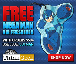 Free Mega Man Air Freshener with $50+