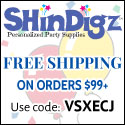 Save 10% on all ShindigZ.com orders