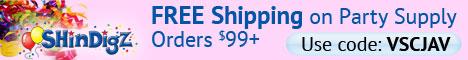 $3.95 Shippi on Party Supply orders - ShindigZ.com