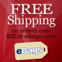 Free Shipping on Orders over $25 at eBags.com!