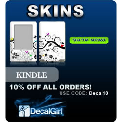 Find Kindle Skins at DecalGirl.com