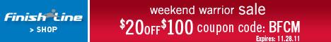 (11/24 - 11/28) Weekend Warrior Sale! Take $20 off
