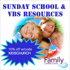 10% off Sunday School & VBS with code KIDSCHURCH